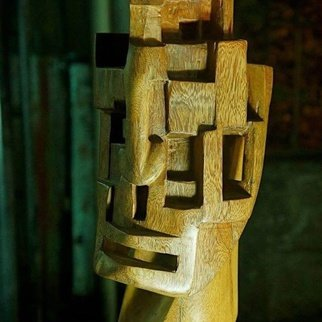 John Paul Dalisay; Self Image, 2013, Original Sculpture Wood, 0.8 x 1.8 feet. Artwork description: 241  Kokawate wood  ...