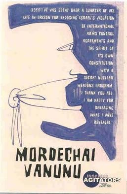 David Lester; Mordechai Vanunu, 2003, Original Printmaking Giclee, 11 x 17 inches. Artwork description: 241 Giclee print. One of a ten poster series