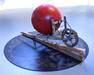 Tom Curtis; The Sacrilege Of Sisyphus, 2007, Original Sculpture Mixed, 96 x 48 inches.