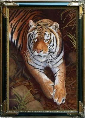 Stephen Powell; Bengal Tiger, 2007, Original Painting Oil, 60 x 90 cm. Artwork description: 241  Bengal Tiger  ...