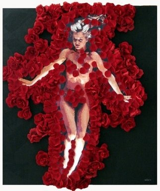 Samitha Hess; American Beauty, 2008, Original Mixed Media, 1 x 1 inches. Artwork description: 241  All of my original artwork was destroyed in Hurricane Ike. To see this design on t- shirts, visit: