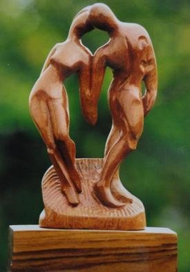 Pradeep Lal; Internal Love, 2011, Original Sculpture Wood, 6 x 12 inches. Artwork description: 241  This is one of best work of artist based on Modern Art. ...