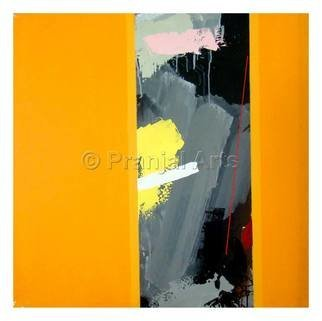 Pranjal Arts; Color Blocked, 2019, Original Painting Acrylic, 3 x 3 feet. Artwork description: 241 color  blocking is done, majorly bright combos...