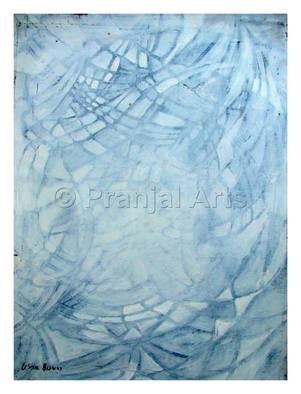 Pranjal Arts; Purity, 2019, Original Painting Oil, 1 x 2 feet. Artwork description: 241 white color is known as the color of purity, inricate shapes are formed, only white color is used...