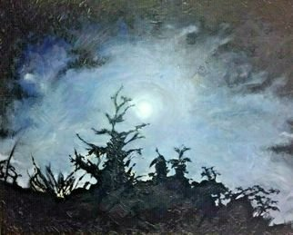 Karim Hetherington; Supermoon, 2016, Original Painting Acrylic, 20 x 16 inches. Artwork description: 241  Supermoon  Original Landscape on canvas50 x 40cmsigned beautiful work...