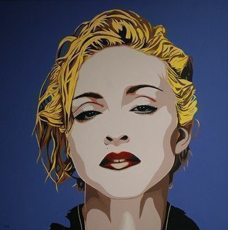 Peter Seminck; Madonna, 2016, Original Painting Acrylic, 31.5 x 31.5 inches. Artwork description: 241  MadonnaPopPortrait               ...