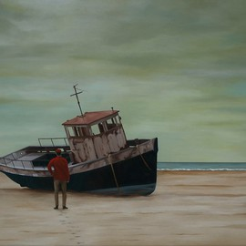 Peter Seminck, , , Original Painting Oil, size_width{Stranded-1475509993.jpg} X 35.4 inches