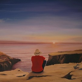 Peter Seminck, , , Original Painting Oil, size_width{sunset-1555078767.jpg} X 31.5 inches