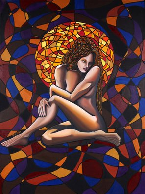 Patrick Sean Kelley; Refelction Of A Souls Light, 2007, Original Painting Oil, 3 x 5 feet. Artwork description: 241  A study of light as it reflects the soul of a woman. ...