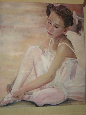 Cherie Salinas; Ballerina, 2012, Original Painting Oil, 20 x 24 inches. Artwork description: 241  Here is a sweet little ballerina girl.  This oil with it's soft pinks would look great in your princess' room. ...