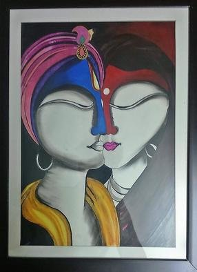 Pushkar Saxena; Goddess Radha And God Krishna, 2017, Original Painting Acrylic, 15 x 19 inches. Artwork description: 241 Beautiful Glass Framed painting of Godess Radha and Lord Krishna. Its amazing for your home decoration. Please buy. ...