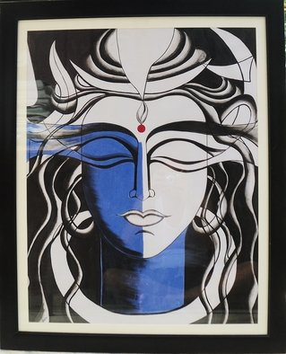 Pushkar Saxena; Lord Shiva Acrylic Painting, 2017, Original Painting Acrylic, 27 x 34 inches. Artwork description: 241 Its a beautiful acrylic glass framed painting of Lord Shiva. Best suited for home decor. It will enhance the beauty of your wall. Size 34x27 inches. ...