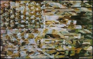 Pygoya Rodney Chang-Phd; Desert Storm, 1990, Original Painting Oil, 96 x 69 inches. Artwork description: 241 Carrying on the tradition of the image of the American flag in American painting, such as that by Jasper Johns ( 1954- 55) .  This one captures the artist' s influence of the Persian Gulf War, filtering in imagery and sounds from CNN Television coverage as the artist worked ...