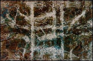 Pygoya Rodney Chang-Phd; Journey In China, 1993, Original Painting Oil, 72 x 48 inches. Artwork description: 241 Rodney Pygoya Chang' s inspiration from the textures he experienced on his trip to China for his solo exhibitin opening at the Shanghai Art Museum in 1988; design with the Mac computer then rendered into oil on canvas....