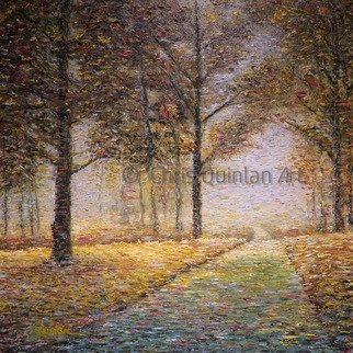 Chris Quinlan; Park Days, 2017, Original Painting Oil, 24 x 24 inches. Artwork description: 241 Park Days, A landscape impressionism painting by Chris Quinlan Art Irish artist, Park Days is an impression painting of any park I walked through in my life.  Original oil painting on canvas. ...