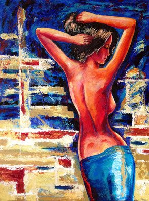 David Smith; Spanish Nude, 2013, Original Painting Acrylic, 100 x 122 cm. Artwork description: 241  Woman, lady, beautiful, glamour, model, dancing,joy, love, spanish.      ...