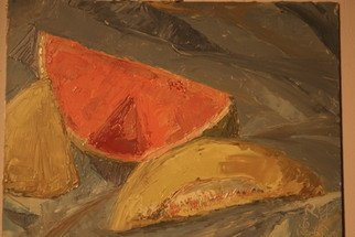 Racheal Yang; Watermelon, 2008, Original Painting Oil, 12 x 9 inches.