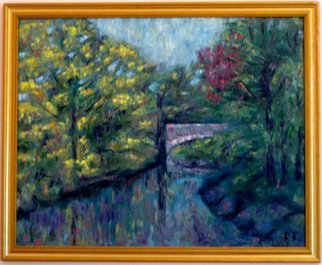 Dmitry Turovsky; Bridge Across Bronx River, 2014, Original Painting Oil, 2.5 x 2 feet. Artwork description: 241  View of a bridge across Bronx River, NY    ...