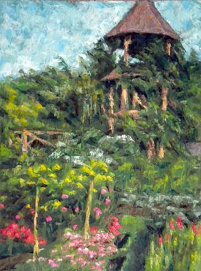 Dmitry Turovsky; Mohonk In September I, 2014, Original Painting Oil, 18 x 24 inches. Artwork description: 241  View of a garden in Mohonk Mountain Home, NY   ...
