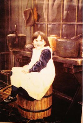 Roger Farr, Sitting Pretty, 1988, Original Painting Oil, size_width{Sitting_Pretty-1015697003.jpg} X 12 inches