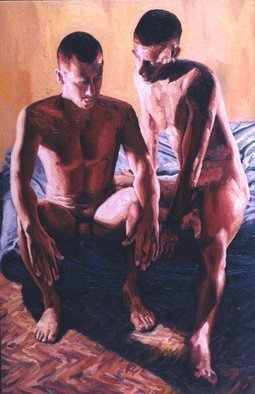 Raphael Perez  Israeli Painter ; Homosexual Art Paintings, 2018, Original Painting Oil, 100 x 150 cm. Artwork description: 241 homosexual art paintings queer artist raphael perez homoerotic painter gay artists painters ...