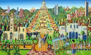 Raphael Perez  Israeli Painter ; Naive Artists Painters, 2018, Original Painting Acrylic, 150 x 200 cm. Artwork description: 241 naive painter raphael perez israeli artist folk artworks paintings landscape urban painting artists painters ...