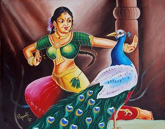 Ragunath Venkatraman; Rhythms Of Tradition, 2016, Original Painting Oil, 24 x 18 inches. Artwork description: 241 RHYTHMS OF TRADITIONAll Indian classical dances are to varying degrees rooted in the Natyashastra and therefore share common features: for example, the mudras  hand positions , some body positions, and the inclusion of dramatic or expressive acting or abhinaya. Indian classical music provides accompaniment and dancers of ...