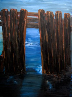Charles Rajkovic; Shelter Island North Point 1, 2010, Original Painting Oil, 92 x 122 cm. Artwork description: 241 Painted on linen, ground with gesso  ...