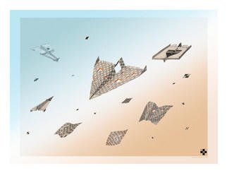 Dmitry Rakov, 'Flight', 2003, original Computer Art, 16 x 11  inches. Artwork description: 1758 Flight ( Planes)...