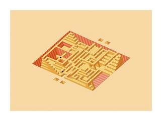 Dmitry Rakov, 'LABYRINTH', 2003, original Printmaking Other, 17 x 13  inches. Artwork description: 1758 LABYRINTH ( Plan of a Pyramid)The style IMP ART ( Impossible ART)The first in the world - The most simple reversible figure ( bistable figure) - - >