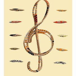 Dmitry Rakov, , , Original Graphic Design, size_width{The_treble_clef-1453016825.jpg} X 17 inches