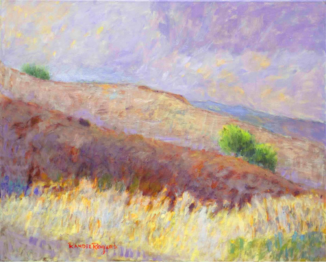 Randel Rogers; Rolling, 2009, Original Painting Oil, 30 x 24 inches. Artwork description: 241 Rolling hills showing soft colors. Rainstorm clouds receding. ...