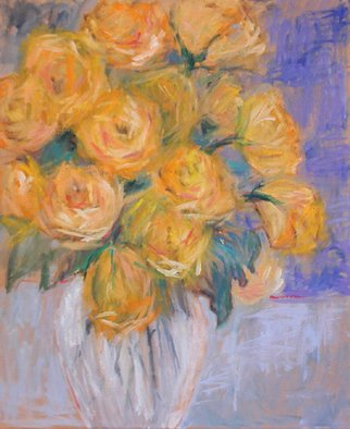 Randel Rogers; Floral, 2013, Original Other, 20 x 24 inches. Artwork description: 241 Bright and cheery yellow roses. A little uplift with every glance. ...