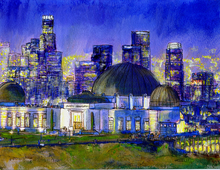 Randy Sprout Griffith Park Observatory with LA Nocturne, 2014