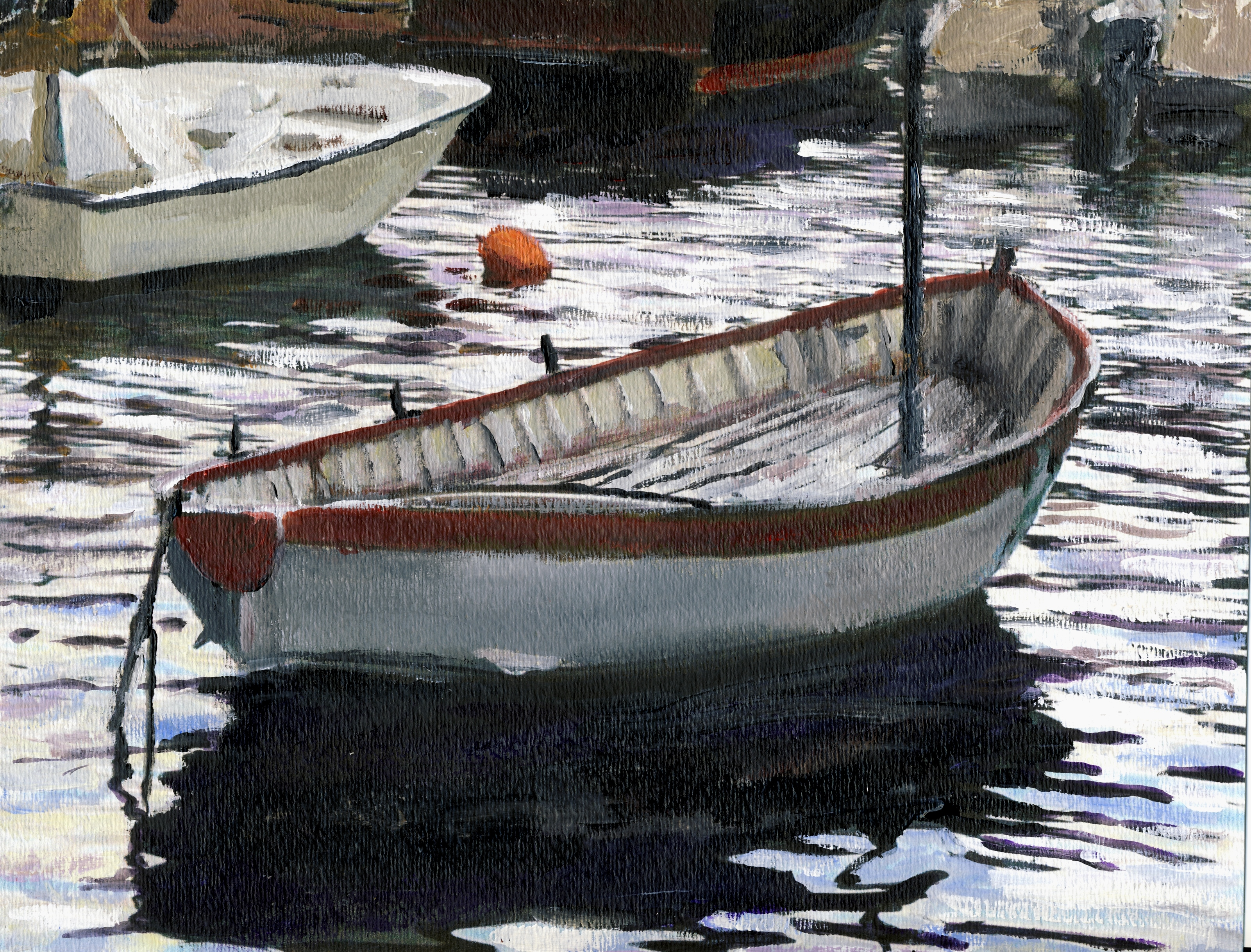 Randy Sprout, Peggys Cove Dingy Haul Out, 2012, Original Painting Acrylic, size_width{ing_Fish_Boat_Positano-1353169379.jpg} X 6 inches