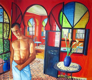 Rafi Perez; Erotic Male Nude Painting..., 2016, Original Painting Acrylic, 160 x 150 cm. Artwork description: 241  large colorful painting art        ...
