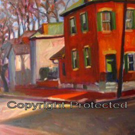Ron Anderson, , , Original Painting Oil, size_width{Around_the_corner_in_German_Village-1440685640.jpg} X 16 inches