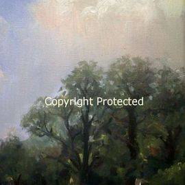 Ron Anderson, , , Original Painting Oil, size_width{Blue_Skies_on_a_Sunny_Day-1440710703.jpg} X 12 inches