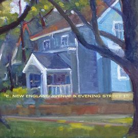 Ron Anderson, , , Original Painting Oil, size_width{E_New_England_Avenue_and_Evening_Street_1-1440710507.jpg} X 12 inches