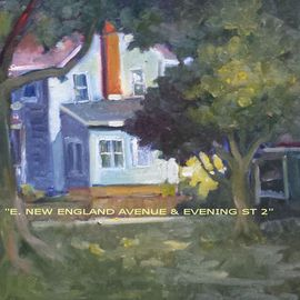 Ron Anderson, , , Original Painting Oil, size_width{E_New_England_Avenue_and_Evening_Street_2-1440710525.jpg} X 12 inches