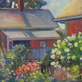 Ron Anderson, , , Original Painting Oil, size_width{English_Garden_in_German_Village-1440685540.jpg} X 16 inches