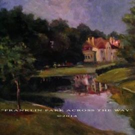 Ron Anderson, , , Original Painting Oil, size_width{Franklin_Park_Across_The_Way-1440804623.jpg} X 16 inches