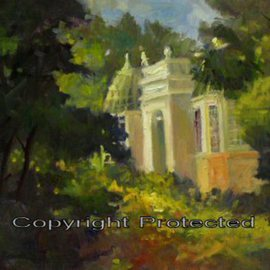 Ron Anderson, , , Original Painting Oil, size_width{Franklin_Park_Conservatory-1440710715.jpg} X 16 inches