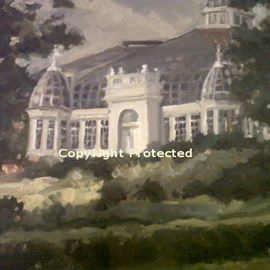 Ron Anderson, , , Original Painting Oil, size_width{Palm_House_at_Franklin_Park-1440710554.jpg} X 16 inches