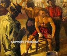 Artist: Ron Anderson's, title: Pugilist Review, 2003, Painting Oil