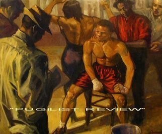 Ron Anderson, Pugilist Review, 2003, Original Painting Oil, size_width{Pugilist_Review-1441200203.jpg} X 37.5 x  inches