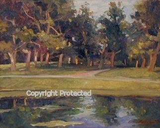 Ron Anderson, 'Reflections', 2004, original Painting Oil, 20 x 16  x 1 inches. Artwork description: 2703 Original oil painting by artist Ron Anderson. Painting entitled Reflections. Painted in plein air at Franklin Park in Columbus, Ohio. Painting is priced and sold unframed. Buyer is responsible for all shipping fees, insurance costs and any applicable sales tax and duties. Artist reserves all rights to ...