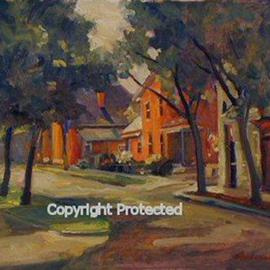 Ron Anderson, , , Original Painting Oil, size_width{South_5th_Street_and_East_Kossuth_Street-1440685458.jpg} X 16 inches