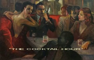 Ron Anderson; The Cocktail Hour, 2014, Original Painting Oil, 30 x 20 inches. Artwork description: 241  Original oil painting by Ohio artist Ron Anderson. Painting entitled The Cocktail Hour. Painting is priced and sold unframed. Buyer is responsible for all shipping fees, insurance costs and any applicable sales tax and duties. Artist reserves all rights to reproduction and copyright....