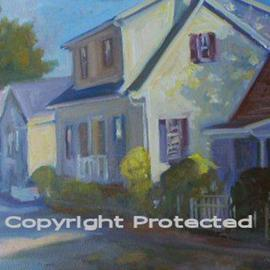 Ron Anderson, , , Original Painting Oil, size_width{White_House_in_German_Village-1440685690.jpg} X 16 inches